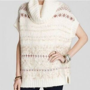 Free People Fair Isle Snow Bunny Cowl Neck Sweater